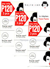 3 x Kojie San Triple Packs 9 x 100g Kojic Acid Soap Whitening Lightening Genuine