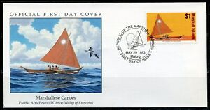 MARSHALL ISLANDS 1993 $1 CANOE FIRST DAY COVER