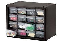 16 Drawer Small Parts Storage Cabinet Tools Organizer Bin Box Container Plastic