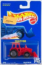 Hot Wheels Collector #145 Red Tractor Malaysia Casting New On Card 1992