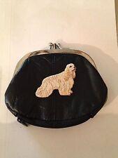 Cocker Spaniel Dog Design Leather Change Purse Wallet Dog Breed Gifts