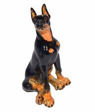 "Rare! Doberman Pinscher By Kitty'S Kennel Figurine Named ""Duke"""