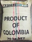 100% certifified ORGANIC Colombian FTO Huila Unroasted Green Coffee Beans Fresh