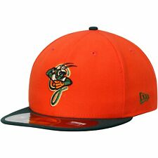 Greensboro Grasshoppers New Era Authentic 59FIFTY Fitted Hat - Orange/Green