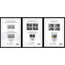 BRD-3 Schwarzdrucke plus 60-Seiten-Album