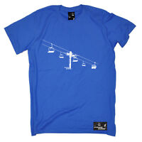 Skiing Tee Ski Lift sports funny top Birthday tee For Him T SHIRT T-SHIRT