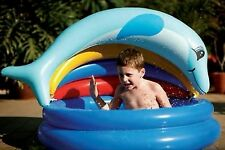New, Splash Pool, Inflatable, Dolphin Shade Toddler, Baby, Quality Wade Pool
