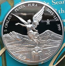 2015 Libertad Proof .999 Huge 5 Ounce Silver Proof Only 1,600 Minted