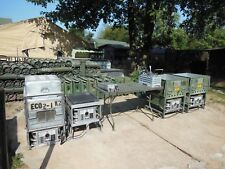 MILITARY SURPLUS FIELD RANGE STOVE KITCHEN 4 MBU BURNERS 2 SINKS POWER UNIT ARMY
