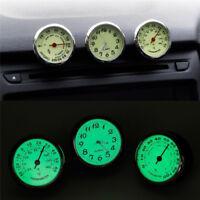 Auto Car Dashboard Decoration Ornaments Luminous Clock Thermometer Hygro ML
