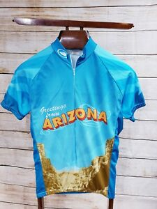 Greetings from Arizona Cycling Bicycle Performance Jersey SM S Adult Pre-owned
