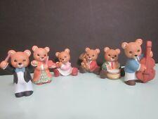Homco Musical Bears Set of 6 #1422