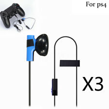 3pcs Earbud Earphone With Mic for PlayStation 4 Ps4 Controller Headset Headphone