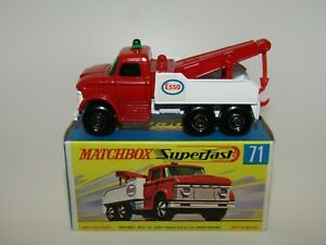 Matchbox Superfast No 71 Ford Wreck Truck Black Axles V N Mint in V N Mint Box