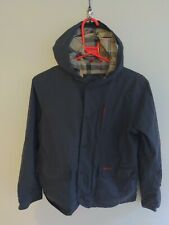 Kids Boys Barbour Classic Jacket Coat Waterproof And Breathable L 10/11 Blue