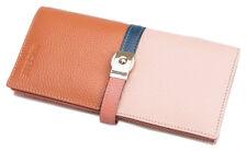 Nucelle Women Designer Wallet Pink Leather Checkbook Clutch