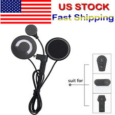 Motorcycle Helmet Headset Stereo Mic Speakers for Motorbike Bluetooth Intercom