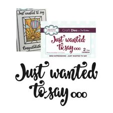Just wanted to Say Metal Die Words Creative Expressions Cutting Dies CEDME001