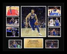 New Ben Simmons Signed Philadelphia 76ers Limited Edition Memorabilia Framed