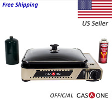 Portable Gas Grill Burner and Camping Griddle Propane and Butane by Gas One *NEW