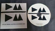 Depeche Mode 2013 PROMO LIVE CD Museumsquartier Vienna Austria Delta Machine