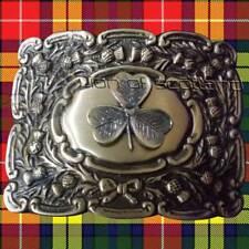 Scottish Kilt Belt Buckle Irish Shamrock Antique Finish/Thistle Buckles Piper