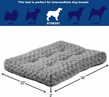 Plush Dog Bed   Coco Chic Dog Bed & Cat Bed, Black, Super Soft