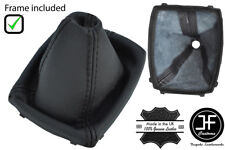 BLACK STITCH 6 SPEED LEATHER GEAR GAITER + PLASTIC FRAME FOR FORD C MAX 07-10