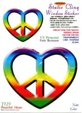 """Peaceful Heart"" Static Cling Window Sticker"