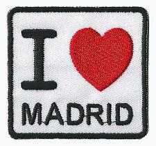Patche I love Madrid écusson transfert patch Espagne brodé thermocollant
