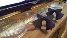 Hella black/smoke cross hair +4x brand new glass lenses KIT! for BMW e30 e34 e32