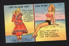 Comic Postcard bathing suit fashion statement once Mother Hubbard now cupboard