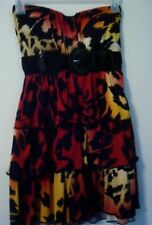 Strapless DRESS Short Ruffles Padded Cups Salsa Style by Wet Seal Sz XS Belted