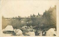 Gault California Nevada County Girder Bridge 1908 RPPC Photo Postcard 20-12408