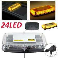 24 LED Amber Warning Strobe Light Recovery Car Flashing Magnetic Beacons Light