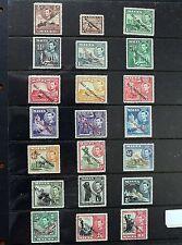 Malta – 1947 Self Govt Overprint Set – SG 234-248 – Unm.Mint (MNH)  (R3)