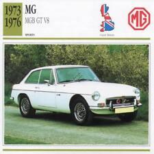 1973-1976 MG MGB GT V8 Sports Classic Car Photo/Info Maxi Card