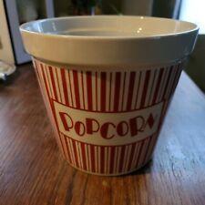 New listing Porcelain Popcorn Bowl, Msrf Inc, Ceramic Movie Theater Popcorn Bowl