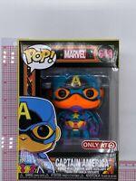 Funko Pop Marvel Captain America Black Light Target Exclusive 648 I03