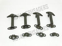 NEW WILLYS FORD JEEP HOOD BONNET LATCH KIT MILITARY GREEN SET OF 4