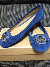 Vintage Blue MICHAEL KORS MK Fulton Moccasins NEW IN BOX 6M