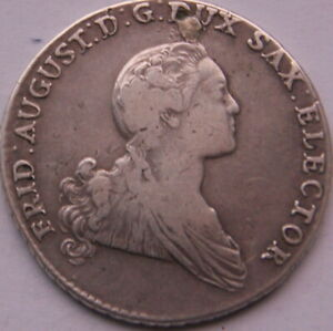 Sachsen Taler 1765 Silber