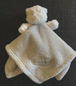 Blankets & Beyond Gray Teddy Bear Fleece Security Lovey Embroidered Eyes Nose