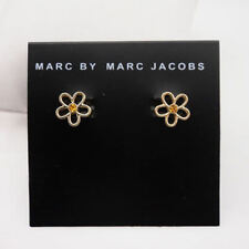 Adorable Marc by Marc Jacobs Gold Cutout Flower w/Center Crystal Stud Earrings