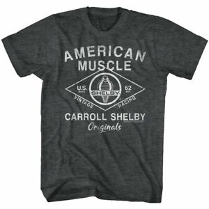 Shelby Tall T-Shirt American Muscle Originals Black Heather Tee