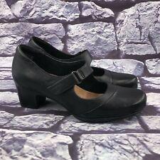 Clarks Artisan Rosalyn Wren Women's Black Leather Mary Jane Pumps Size 8 M