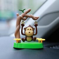 Solar Powered Dancing Swinging Animated Monkey Dancer Toy Car Windowsill Decor