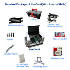 NeoDen4 pick and place machine with vision system set auto rail plus 21 feeder-J