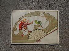 Chromo Eventail Fan Ventaglio Facher Old Trade Card