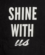 "NEW MENS VICTUS BASEBALL BAT T SHIRT BLACK ""SHINE WITH US"" METALLIC SILVER XL"
